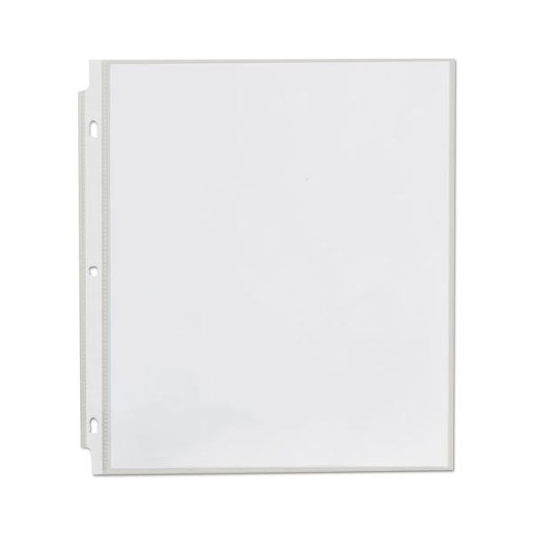 """Universal UNV21123 8 1/2"""" x 11"""" Clear Economy Sheet Protector, Letter - 200/Box"""