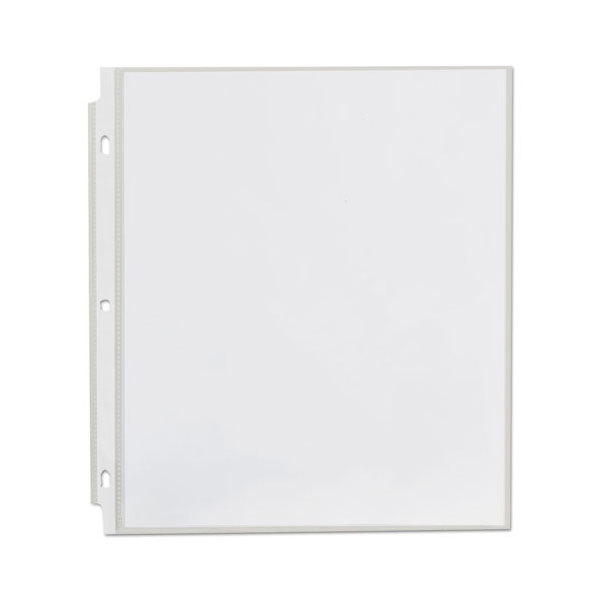 """Universal UNV21123 8 1/2"""" x 11"""" Clear Economy Sheet Protector, Letter - 200/Box Main Image 1"""
