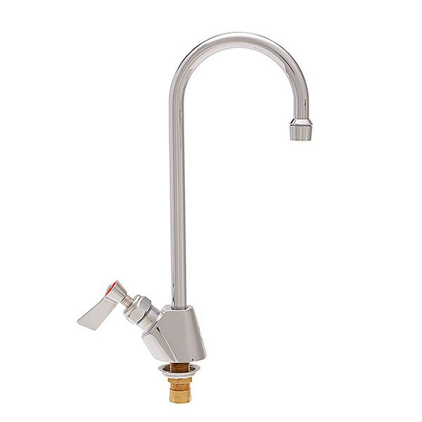 """Fisher 3015 Deck Mounted Faucet with 12"""" Swivel Gooseneck Nozzle, 2.20 GPM Aerator, and Lever Handle"""