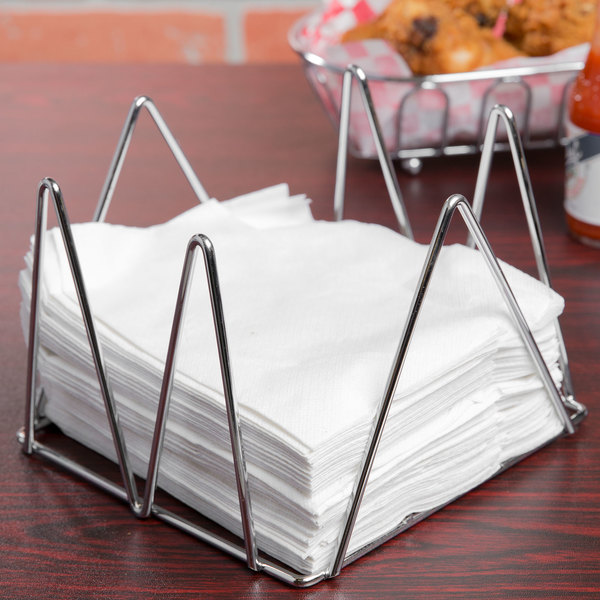 """Clipper Mill by GET WIRNPK-5 5"""" Chrome Plated Wire Napkin Holder Main Image 6"""