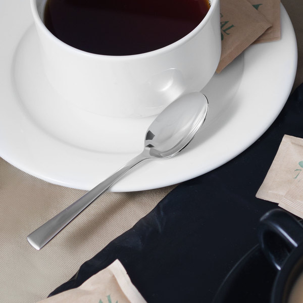 "Reed & Barton RB113-007 Diana 4 5/8"" 18/10 Stainless Steel Extra Heavy Weight Demitasse Spoon - 12/Case"