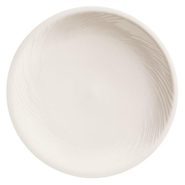 """World Tableware BO-1145 Basics Orbis 9"""" Bright White Porcelain Pellet / Induction Plate - 24/Case Main Image 1"""