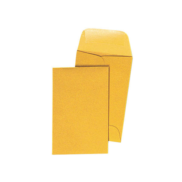 "Universal UNV35300 #1 2 1/4"" x 3 1/2"" Kraft Gummed Seal Coin Envelope - 500/Box Main Image 1"