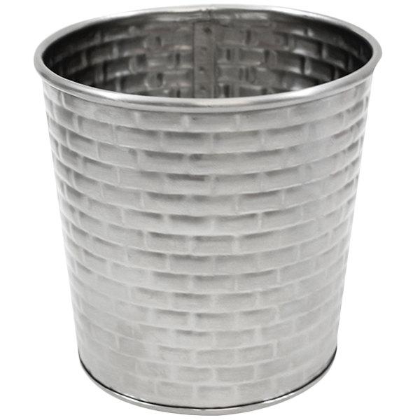 Tablecraft GTSS31 13 oz. Stainless Steel Round Fry Cup