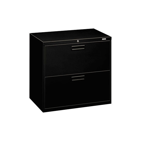 Hon 572lp 500 Series Black Two Drawer Lateral Filing Cabinet 30 Inch X 19