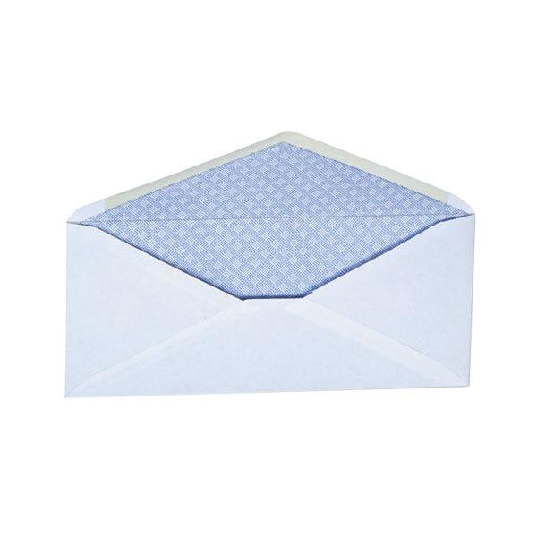 "Universal UNV35202 #10 4 1/8"" x 9 1/2"" White Diagonal Seam Security Business Envelope - 500/Box"