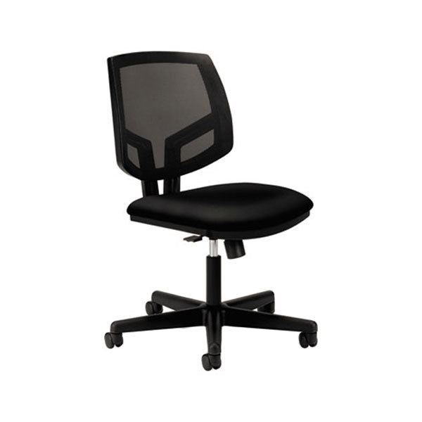 HON 5713GA10T Volt Black Polyester Mesh Back Synchro-Tilt Task Chair with Casters Main Image 1