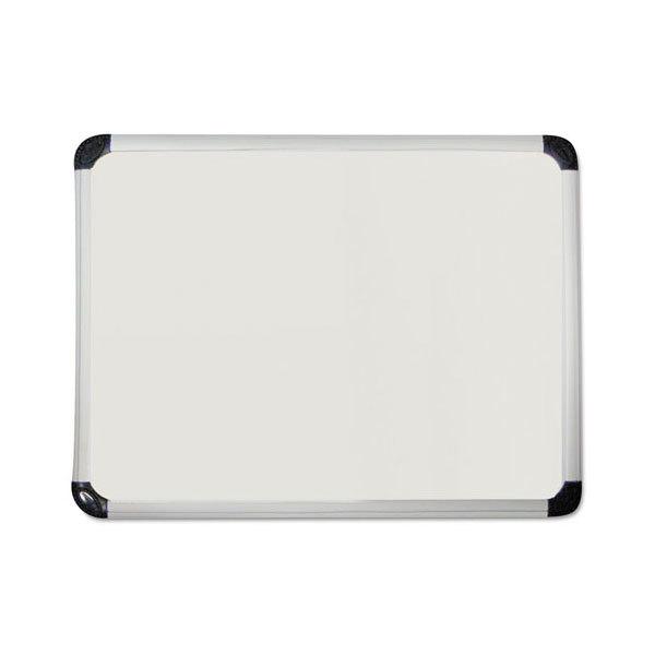 "Universal UNV43843 72"" x 48"" White Porcelain Magnetic Dry-Erase Board"
