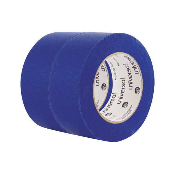 "Universal UNVPT14049 2"" x 60 Yards Blue Painter's Tape - 2/Pack Main Image 1"
