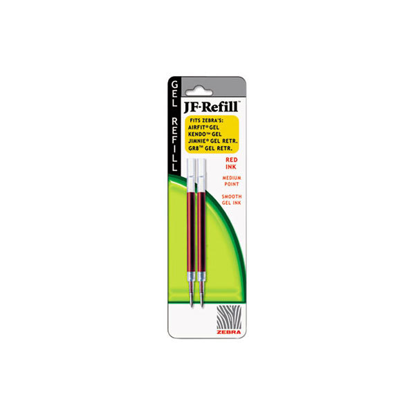Zebra 87032 JF Refill Red Ink 0.7mm Jimnie Gel RT / Sarasa / Z-Grip Roller Ball Gel Pen Refill - 2/Pack Main Image 1