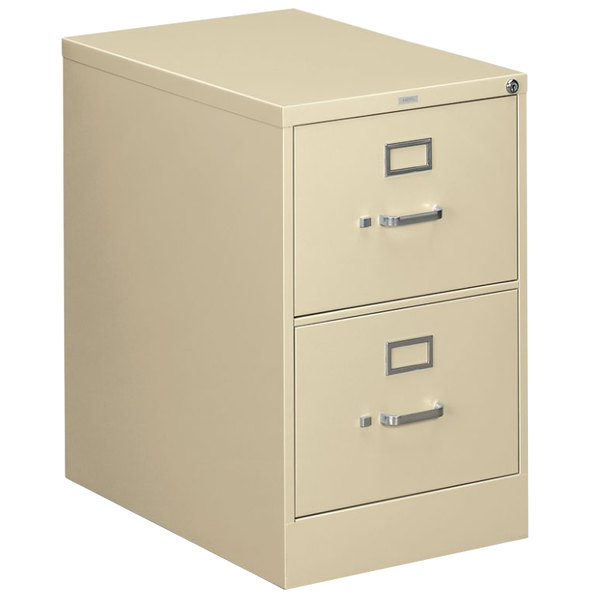 """HON 312CPL 310 Series Putty Full-Suspension Two-Drawer Filing Cabinet - 18 1/4"""" x 26 1/2"""" x 29"""""""
