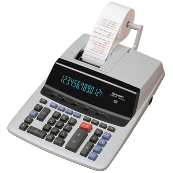 Sharp VX2652H 12-Digit Black / Red Two-Color Printing Calculator - 4.8 Lines Per Second Main Image 1