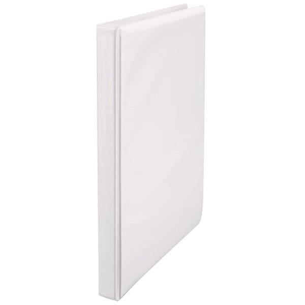 """Universal UNV20952 White Economy Non-Stick View Binder with 1/2"""" Round Rings"""