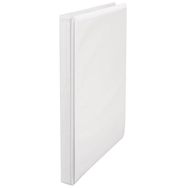 universal unv20952 white economy non stick view binder with 1 2