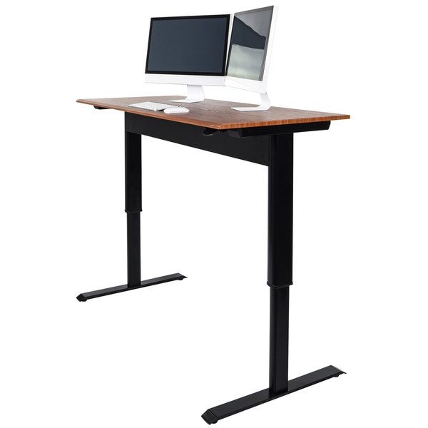 "Luxor SPN48F-BK/TK 48"" Pneumatic Adjustable Height Stand Up Desk"