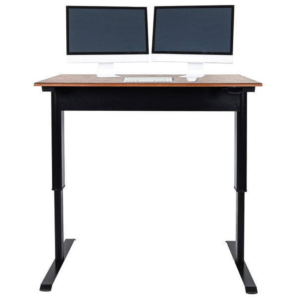 Stand Up Desk >> Luxor Spn48f Bk Tk 48 Pneumatic Adjustable Height Stand Up Desk