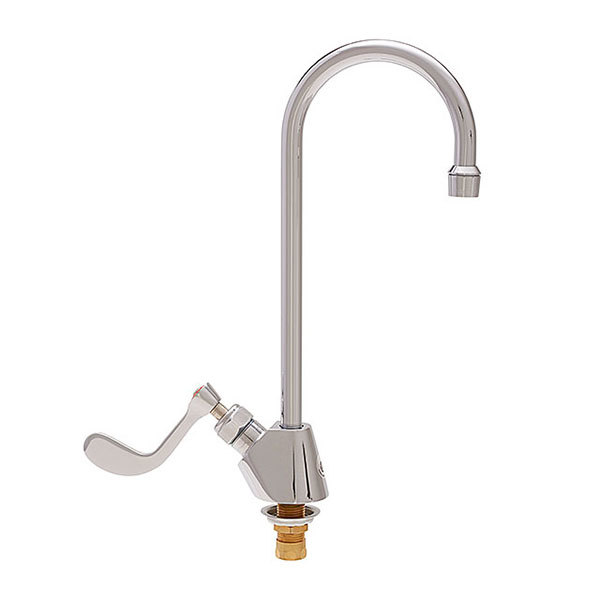 """Fisher 46833 Deck Mounted Faucet with 6"""" Rigid Gooseneck Nozzle, 2.2 GPM Aerator, and Wrist Handle"""