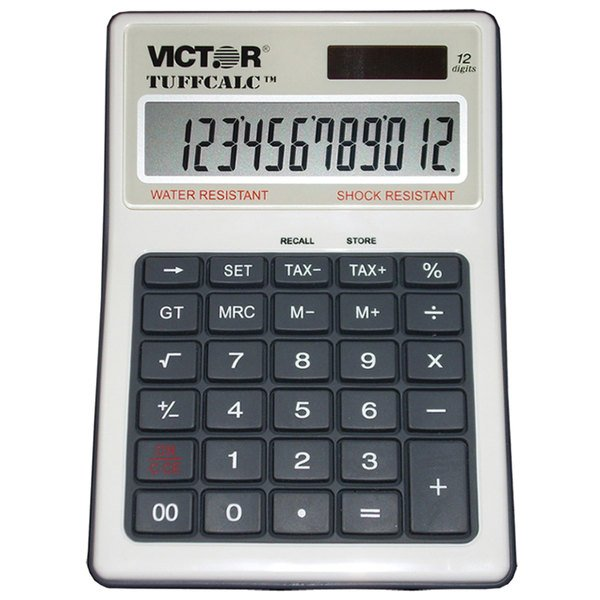 Victor 99901 TUFFCALC 12-Digit LCD Solar Powered Desktop Calculator Main Image 1