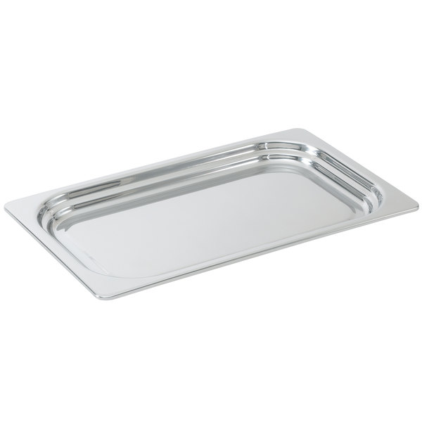 """Vollrath 8230305 Miramar® Full Size Mirror-Finished Stainless Steel Steam Table Food Pan - 1 1/4"""" Deep"""