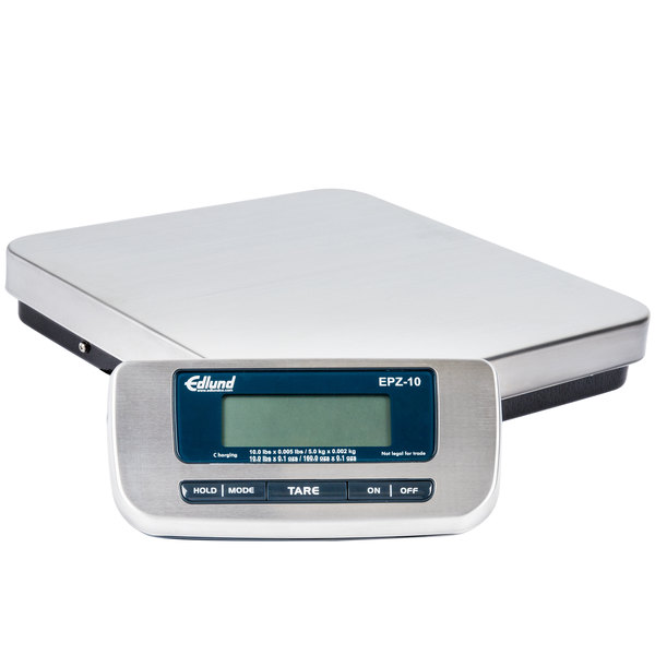 edlund epz 10h 10 lb stainless steel digital pizza scale with foot tare