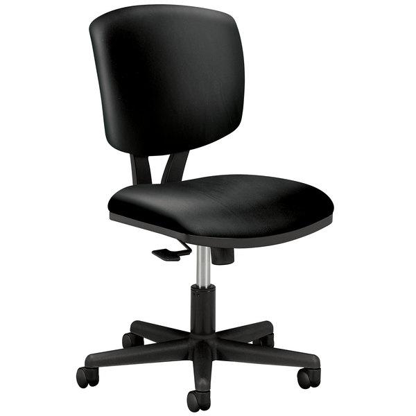 HON 5703SB11T Volt Series Black Leather Synchro-Tilt Task Chair