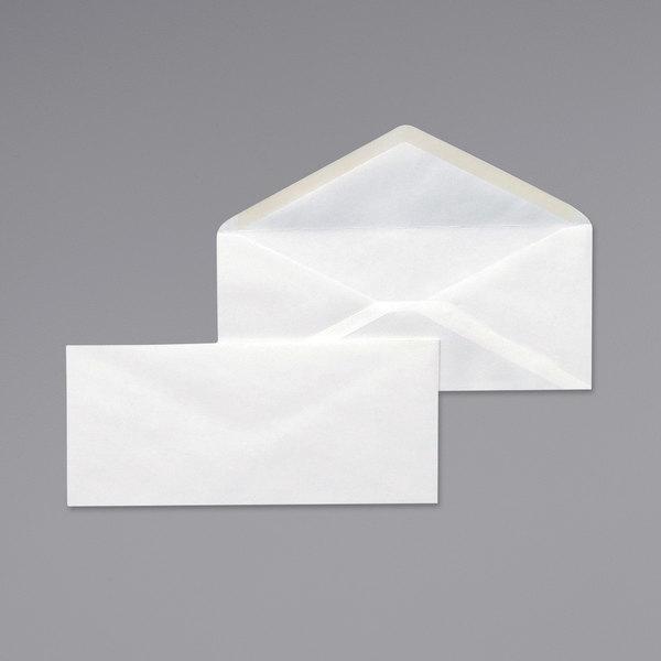 "Universal UNV35210 #10 4 1/8"" x 9 1/2"" White Gummed Seal Business Envelope - 500/Box Main Image 1"