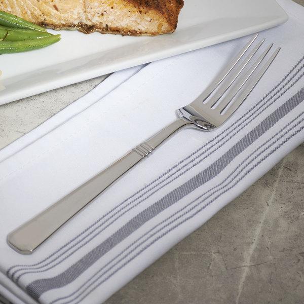 """Bon Chef S3406 Cordoba 8 3/16"""" 18/8 Stainless Steel European Size Dinner Fork - 12/Case"""