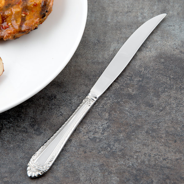 """Reed & Barton RB120-5762 London 8 5/8"""" 18/10 Stainless Steel Extra Heavy Weight Steak Knife - 12/Case"""