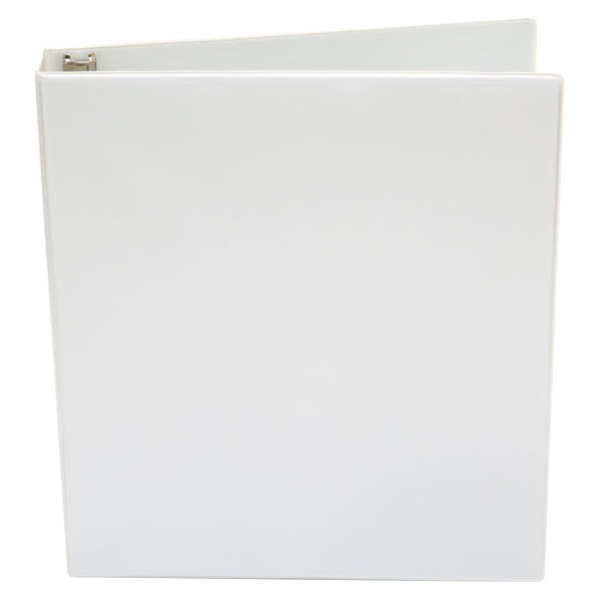 "Universal UNV20962 White Economy Non-Stick View Binder with 1"" Round Rings Main Image 1"