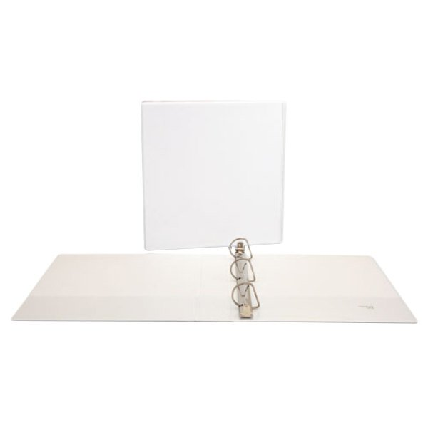"Universal UNV20744 White Economy View Binder with 1 1/2"" Slant Rings Main Image 1"