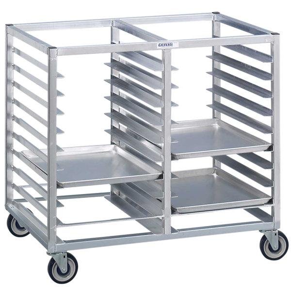 Channel 423A3 12 Pan Bottom Load Double Aluminum Bun / Sheet Pan Rack - Assembled