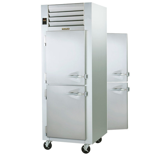 Traulsen G14304P 1 Section Pass-Through Half Door Hot Food Holding Cabinet with Left Hinged Doors