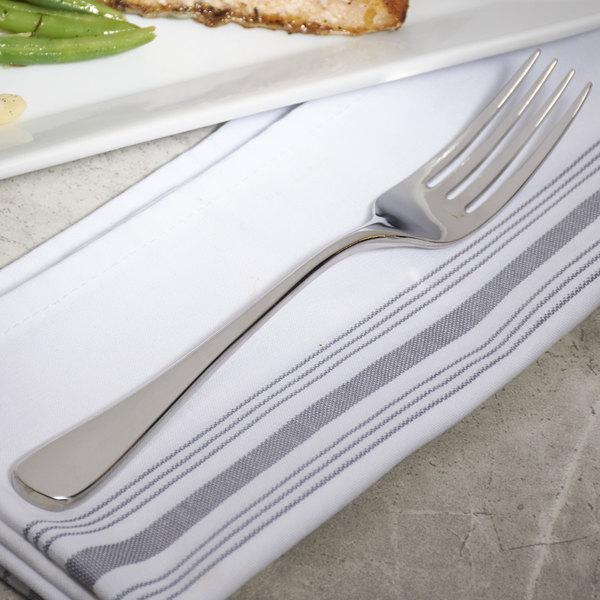 "Bon Chef S4005 Como 8 1/4"" 18/8 Stainless Steel Extra Heavy Dinner Fork - 12/Case"