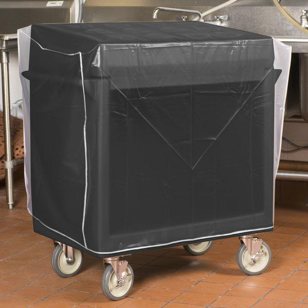 """Cambro TDCR12110 Black 38"""" x 23"""" x 41"""" Tray/Flatware Cart"""