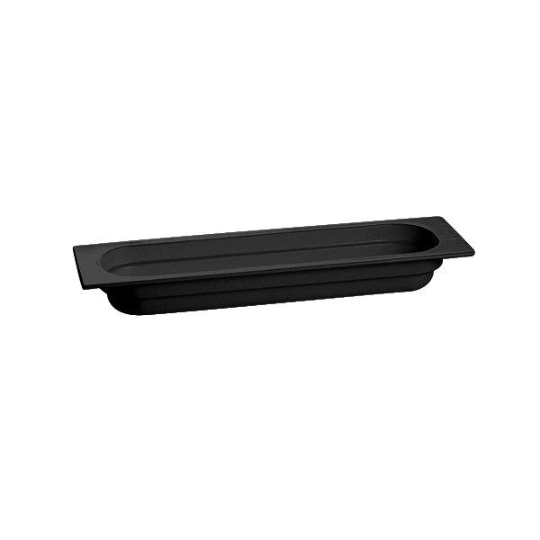"Tablecraft CW330BK 20 3/4"" x 6 3/8"" x 2 1/2"" Black Half Size Long Cast Aluminum Food Pan"