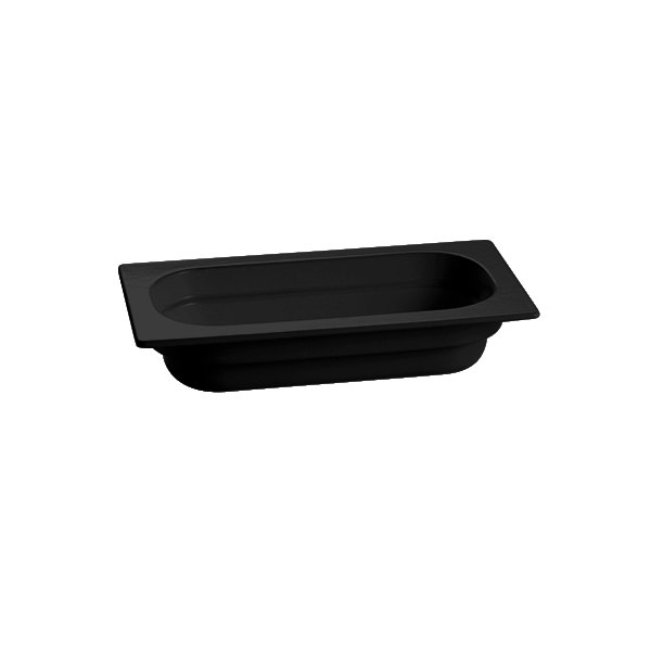 "Tablecraft CW350BK 12 3/4"" x 6 7/8"" x 4"" Black 1/3 Size Deep Cast Aluminum Food Pan"