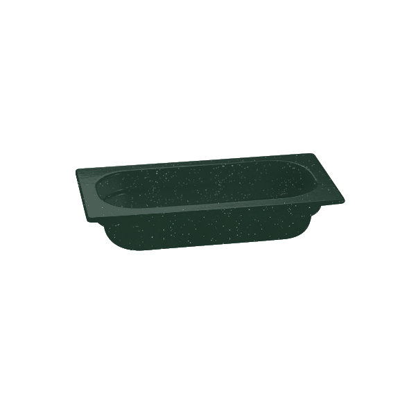 """Tablecraft CW350HGNS 12 3/4"""" x 6 7/8"""" x 4"""" Hunter Green with White Speckle 1/3 Size Deep Cast Aluminum Food Pan"""