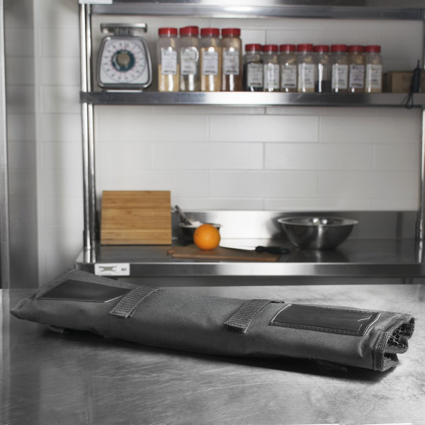Dexter-Russell 20206 3 Piece Black Cutlery Roll Main Image 5