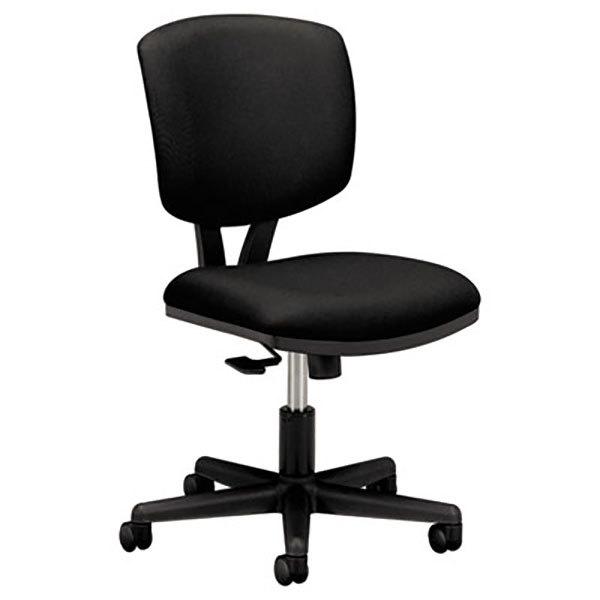 HON 5703GA10T Volt Black Synchro-Tilt Task Chair with Swivel Base Main Image 1
