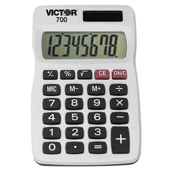 Victor 700 8-Digit LCD Solar Battery Powered Pocket Calculator