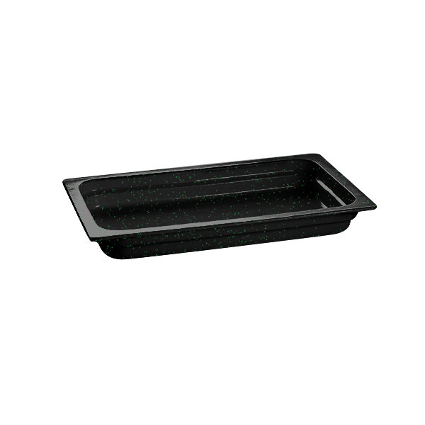 """Tablecraft CW300BKGS 20 3/4"""" x 12 3/4"""" x 2 1/2"""" Black with Green Speckle Full Size Cast Aluminum Food Pan"""