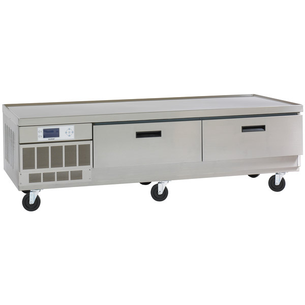 "Delfield F2984VDR 84"" Versa Drawer Two Drawer Refrigerated Chef Base"
