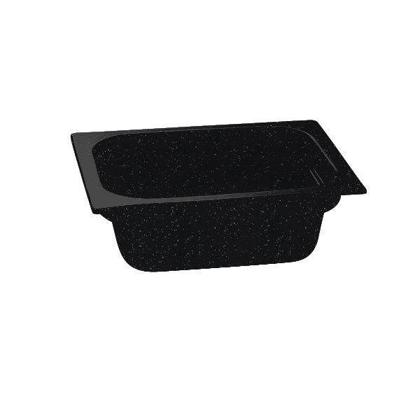 "Tablecraft CW320MS 12 3/4"" x 10 3/8"" x 4"" Midnight Speckle Half Size Deep Cast Aluminum Food Pan"