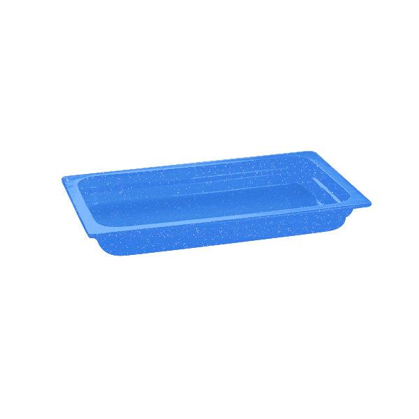 "Tablecraft CW300BS 20 3/4"" x 12 3/4"" x 2 1/2"" Blue Speckle Full Size Cast Aluminum Food Pan"