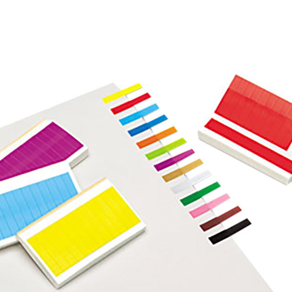 """Redi-Tag 20202 13 Assorted Color 1"""" x 3/16"""" Removable Page Flag - 240/Pack"""