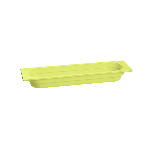 "Tablecraft CW330LG 20 3/4"" x 6 3/8"" x 2 1/2"" Lime Green Half Size Long Cast Aluminum Food Pan"
