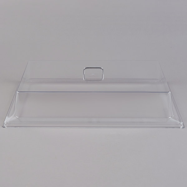 "Cambro RD1826CW Camwear 18"" x 26"" Clear Rectangular Dome Display Cover"