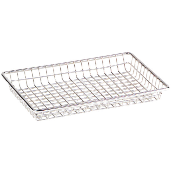 "Clipper Mill by GET 4-835812 12"" x 8"" Stainless Steel Rectangular Grid Basket"