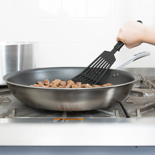 """Vollrath 69614 Tribute 14"""" Tri-Ply Stainless Steel Non-Stick Fry Pan with CeramiGuard II Coating and TriVent Chrome Plated Handle Main Image 2"""