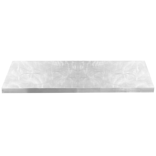 """Tablecraft CWAL6TCL Translucent Clear 13 Gauge Aluminum Table Cover for 6' Table - 72 3/8"""" x 30 3/8"""""""